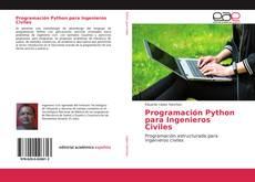 Bookcover of Programación Python para Ingenieros Civiles