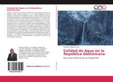 Portada del libro de Calidad de Agua en la República Dominicana