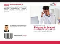 Capa do livro de Síndrome de Burnout y calidad de atención