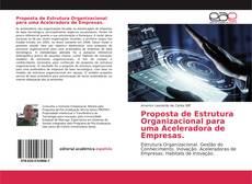 Capa do livro de Proposta de Estrutura Organizacional para uma Aceleradora de Empresas.