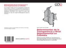 Copertina di Determinantes de la Transparencia a Nivel Departamental en Colombia