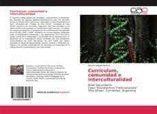 Bookcover of Currículum, comunidad e interculturalidad