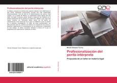 Portada del libro de Profesionalización del perito intérprete