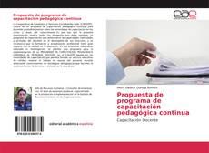 Bookcover of Propuesta de programa de capacitación pedagógica continua