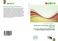 Bookcover of Balkans Campaign (World War II)