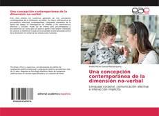 Couverture de Una concepción contemporánea de la dimensión no-verbal