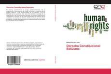Bookcover of Derecho Constitucional Boliviano