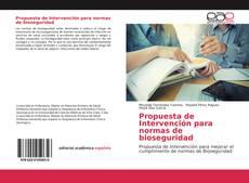 Portada del libro de Propuesta de Intervención para normas de bioseguridad
