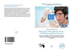 Capa do livro de Dolichyl-Phosphate Beta-D-Mannosyltransferase