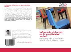 Portada del libro de Influencia del orden en la creatividad verbal