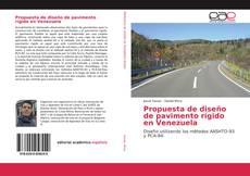 Portada del libro de Propuesta de diseño de pavimento rígido en Venezuela