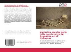 Couverture de Variación secular de la talla en el centro de Argentina en el Holoceno