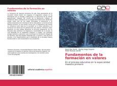 Bookcover of Fundamentos de la formación en valores