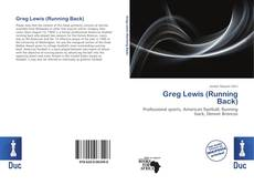 Bookcover of Greg Lewis (Running Back)