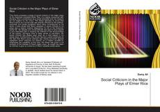Buchcover von Social Criticism in the Major Plays of Elmer Rice