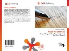 Bookcover of Allied Academies