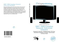 Bookcover of 2007–2008 Canadian Network Television Schedule