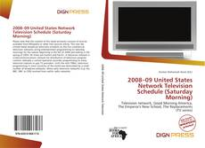 Portada del libro de 2008–09 United States Network Television Schedule (Saturday Morning)