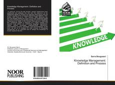 Couverture de Knowledge Management: Definition and Process