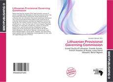 Bookcover of Lithuanian Provisional Governing Commission