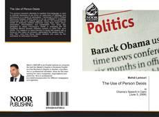 The Use of Person Deixis kitap kapağı
