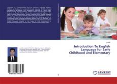 Buchcover von Introduction To English Language for Early Childhood and Elementary