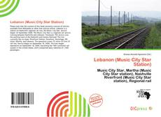 Bookcover of Lebanon (Music City Star Station)
