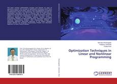 Bookcover of Optimization Techniques in Linear and Nonlinear Programming