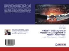 Capa do livro de Effect of Credit Approval Process on Management of Account Receivables
