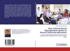 Capa do livro de How Internal Brand Management relates to Brand Citizenship Behaviour