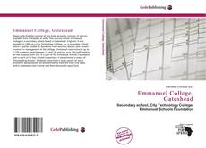 Bookcover of Emmanuel College, Gateshead