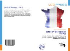 Bookcover of Battle Of Beaugency (1870)