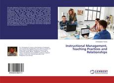 Capa do livro de Instructional Management, Teaching Practices and Relationships