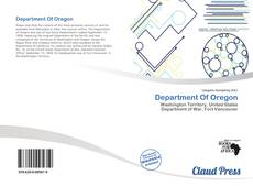 Bookcover of Department Of Oregon