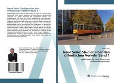 Buchcover von Neue Serie: Studien über den öffentlichen Verkehr Band 1