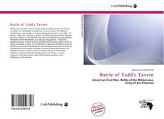 Portada del libro de Battle of Todd's Tavern