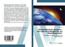 Bookcover of Photovoltaische Systeme - Von den Grundlagen bis zur Netzintegration