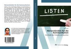 Buchcover von Hörverständnis für die Kommunikation