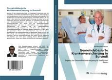 Bookcover of Gemeindebasierte Krankenversicherung in Burundi