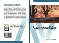 Buchcover von Determinanten nachhaltiger Landmanagement-Praktiken