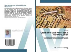 Bookcover of Geschichte und Philosophie der Motivation