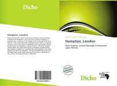 Bookcover of Hampton, London