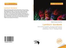 Bookcover of Lambert Verdonk