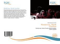 Bookcover of Henderson, North Carolina
