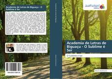 Portada del libro de Academia de Letras de Biguaçu - O Sublime é Ser