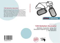 Bookcover of 13th Battalion (Australia)