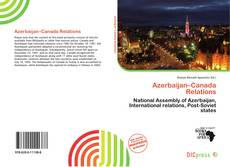 Bookcover of Azerbaijan–Canada Relations