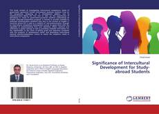 Significance of Intercultural Development for Study-abroad Students kitap kapağı