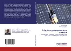 Bookcover of Solar Energy Development in Kenya