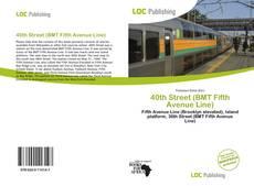 Capa do livro de 40th Street (BMT Fifth Avenue Line)